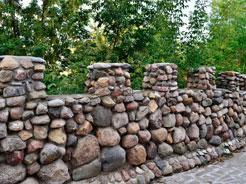 Забор из бутового камня 7
